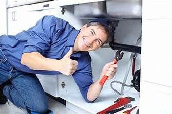 Happy plumber photo